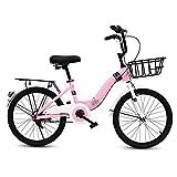 XBSLJ Vélos Enfants, Poussette Vélo pour Enfant, vélo Pliant avec Roues d'entraînement Cadre léger et Durable Siège réglable Élégant à la Recherche Rapide Facilement Pliable pour Nouveau-né (coul
