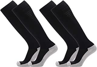Fitliva Cushioned Sole Cotton Sports Socks Knee High for Tall People Above Knee for others Multi-Colors(1/2 pairs)