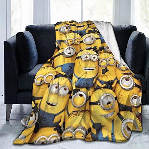 ISWOHJzzz Minions Ultra-Soft Micro Fleece Blanket for Adult Anti-Fleece Blanket, Microfiber Bedding, Super Soft and Comfortable Luxury Sofa Blanket 50'x40'