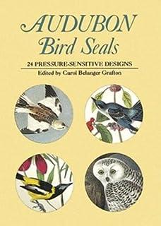 مهر و موم پرنده Audubon: 24 طرح حساس به فشار (برچسب های داور)