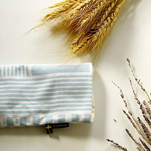 クリッパン麦の温冷アイピローストライプスヘルシンキブルー