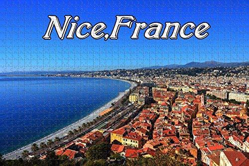 QAWY Rompecabezas Puzzle 1000 Jigsaw Puzzle Game Linda, Francia niños decoración del Amigo Familiar Adecuado