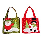Oinna Bolsa de regalo para caramelos, 2 unidades por (hombre y muñeco de nieve), color 3