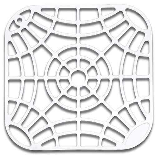 Évier Insert, Antidérapant Mat, Tapis de Protection Spüleneinlage - blanc, 27x27cm