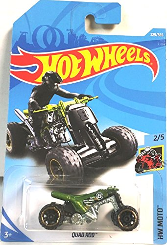 Hot Wheels 2018 50th Anniversary HW Moto Quad Rod (ATV) 229/365, verde