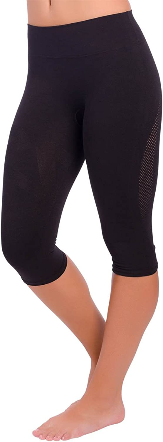 Zensah High Waisted Capris  Women's Compression 3 4 Tights, High Rise Compression Pants, Athletic, Running, Fitness, Workout