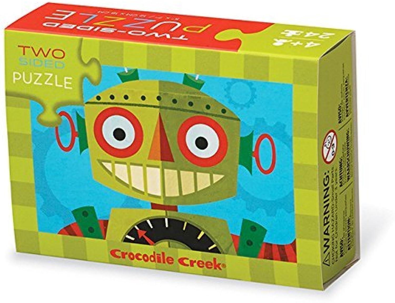 Crocodile Creek 24-pc Two-sided puzzle Robots by Crocodile Creek