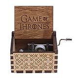 NELNISSA Caja de música de madera grabada con diseño de Juego de Tronos, para manualidades y regalos de Navidad