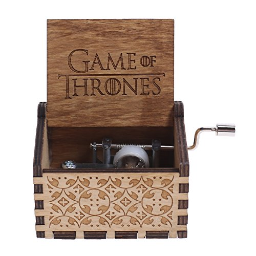NELNISSA - Carillon in Legno con Incisione Game of Thrones