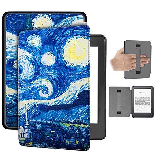 RZL Pad y Tab Fundas para Kindle 10a Generación 2019 6 Pulgadas E-Lector, Titular de la Mano Caso de cáscara Colorida de la Cubierta para Todos - Nuevo Kindle (Color : Sky Hand Strap)