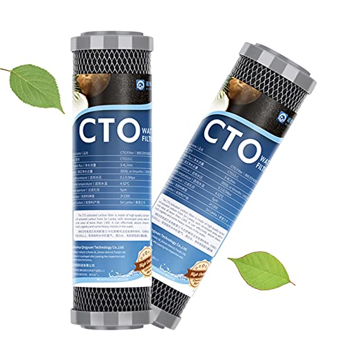 XCJ Cartucho de Filtro de Agua de Bloque de carbón para Toda la casa de 2 Piezas 1 micrón, Filtro purificador de Agua cto de Repuesto de 10', 2,5' x 10'