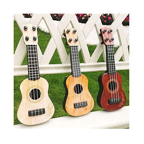 OVERMAL Spielzeug Ukulele Kleine Gitarrenmodelle Kinderspielzeug Gitarre Musikinstrument Geeigne Ukulelenspielzeug Musikaufklärung Gitarrenspielzeug Viersaitengitarre für Kinder