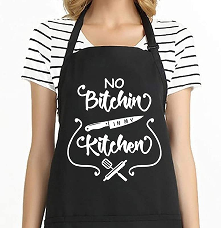 Funny Cooking Apron For Men Women BBQ Apron With 2 Tool Pockets Adjustable Kitchen Chef Bib Professional For Cooking Baking Grilling Christmas Gift For Cook