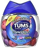 Tums Antacid Chewy Bites, Bayas surtidas, 32 tabletas masticables (paquete de 2)...