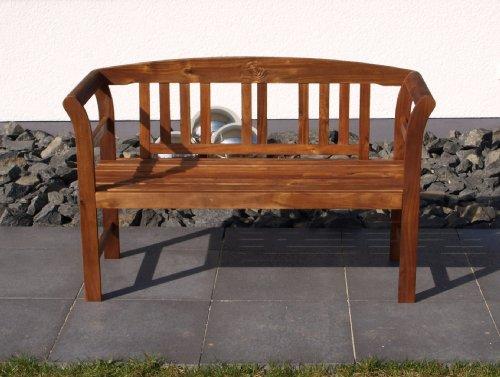 TPFGarden Gartenbank ROSALI 120cm 2-sitzer aus Akazie Massiv Farbton: Braun