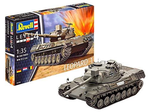Revell Modellbausatz Panzer 1:35 - LEOPARD 1 im Maßstab 1:35, Level 4, originalgetreue Nachbildung mit vielen...