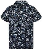 V.H.O. Funky Camisa Hawaiana, Skull, Grey, XS