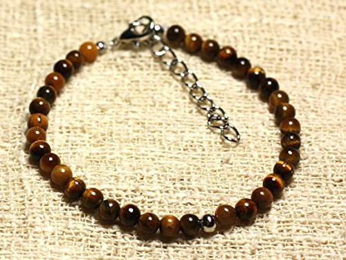 LOVEKUSH 925 Sterling Silver Super Sale Silver Helling 4mm Stracking Multi Tiger Eye Bracelet Round, Smooth 7' for Mens, Womens, gf, bf & Adult.