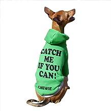 名入れ CATCH ME IF YOU CAN! プリント プルオーバー フーディー イタリアングレーハウンド服 犬服 (ピンク×グレー, L)