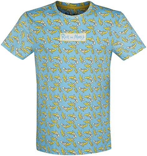 Rick and Morty Banana T-Shirt hellblau S