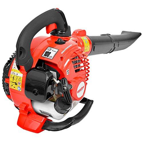 HECHT Laubsauger 9259 Multifunktionsgerät Benzin-Laubbläser Sauger Laubhäcksler Motorbläser (1 PS / 0,75 KW) mit 50 Liter Fangsack