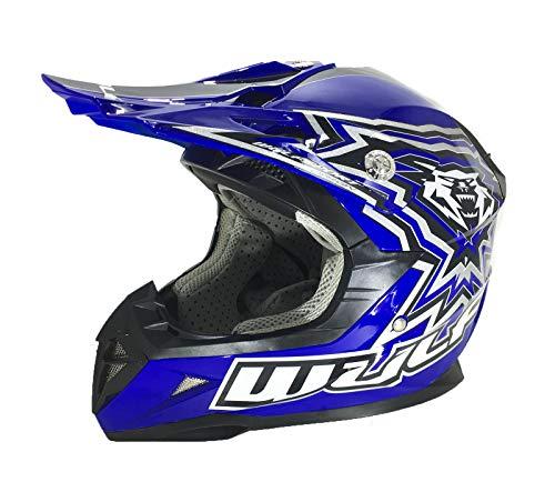 Preisvergleich Produktbild Wulf Sports Kids flite-Xtra Youth Motocross Cub Off Road Helm Glitzer Farben - blau - L