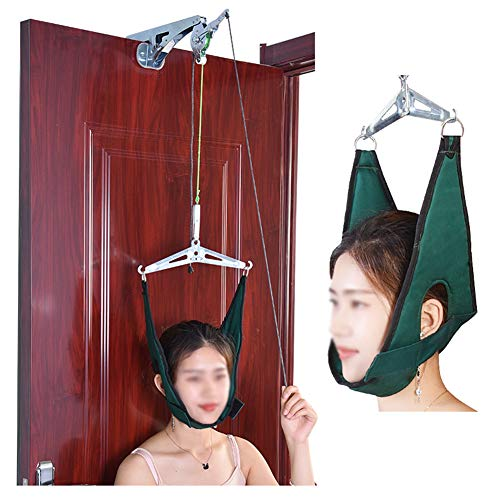 Gxnimer Over Door Cervical Traction Kit, Hals-Dekompressions-Home-Gerät Für Orthopädische Physiotherapie-Set