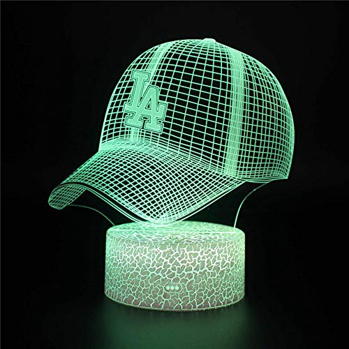 Baseball Cap E Night Light for Kids 3D Gifts, with 16 Colour Changes and Remote Control, Gifts for Children from 3 4 5 6+ Years