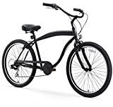 sixthreezero Men's In The Barrel Beach Cruiser Bicycle, 26' Wheels/ 18' Extended Frame