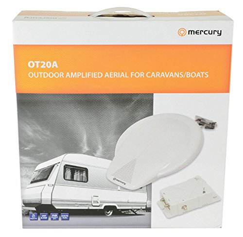 Mercury Outdoor caravan e barca amplificata antenna TV