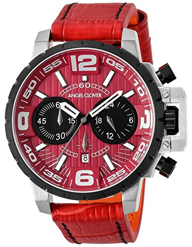 Angel Clover Watch Men's Red Collection Time Craft Chronograph NTC48SRE-RE