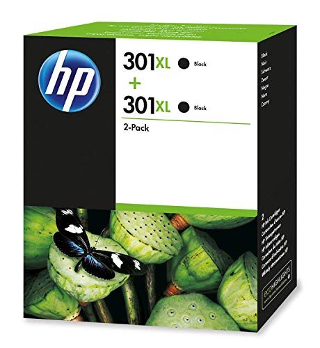 HP D8J45AE Tintenpatrone schwarz No. 301 XL Doppelpack