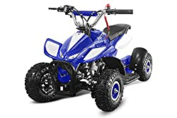 "49cc Dragon 4"" II Mini Quad ATV Bike Pocket Cross Midi Buggy Kinderquad Kinderfahrzeug (Blau)"