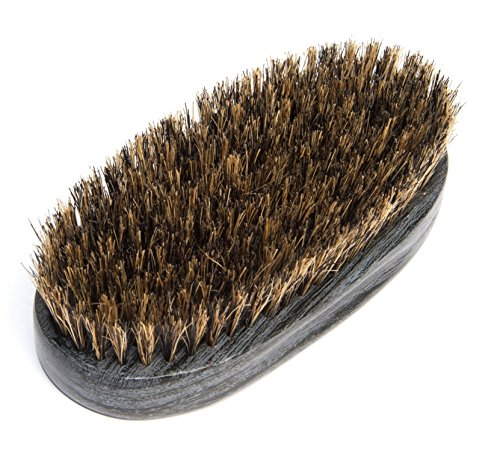 Diane Original Military Brush with 100% Boar Bristles for Men – Medium Bristles for Medium to Coarse Hair – Use for Smoothing, Styling, Wave Styles, Soft on Scalp, DBB105