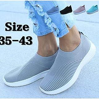 New Designer Women Trainers Knit Sock Sport Shoes(Grey,43)