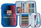 Estuche Plumier Doble FC Barcelona 2 Cremalleras 2 Pisos Barça