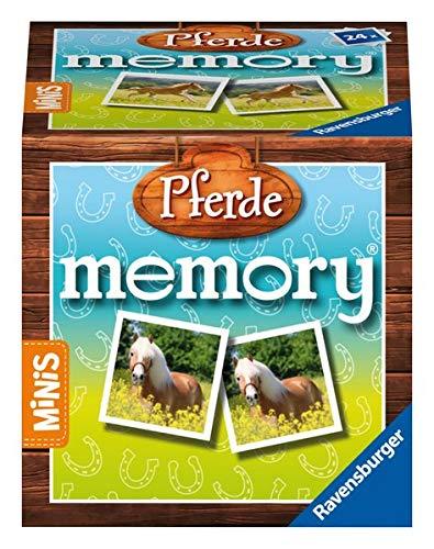Ravensburger Minis - 24556 Pferde Memory® - Der Kinderspiel Klassiker ab 3 Jahren, Gedächtnisspiel für 2-4 Spieler, Pferde Geschenk