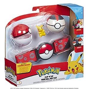 PoKéMoN 95283S Juego de Cinturones de Poke Ball Clip N Go - Pikachu
