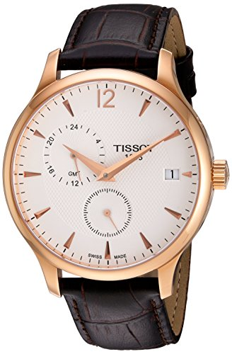 Tissot Men's Rose Gold Leather Strap Watch