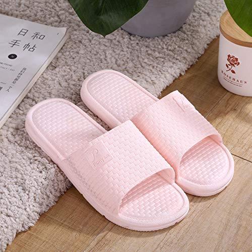 TDYSDYN Antideslizantes Playa Piscina Ducha Sandalias,Zapatillas de baño Antideslizantes, par de Zapatillas de plástico para Interiores y Exteriores.-Rosa_36-37