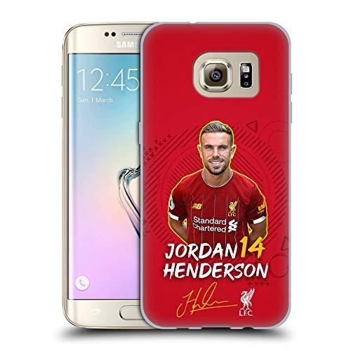 Ufficiale Liverpool Football Club Jordan Henderson 2019/20 Prima Squadra Gruppo 1 Cover in Morbido Gel Compatibile con Samsung Galaxy S7 Edge