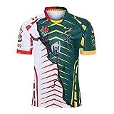 XFKL Rugby Maillot Rugby Jersey Afrique du Sud Angleterre Nouvelle-Zélande Coupe du Monde De Rugby 2019 Survêtements Football Soccer T-Shirt D'entraînement Respirant Textile S-3XL,Vert,XXL