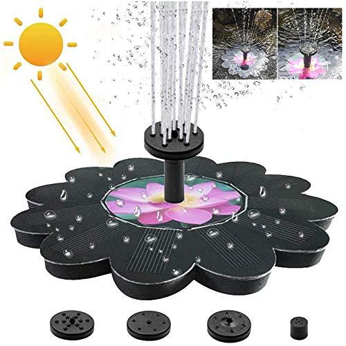 GOLDGOD Solarwasser pumpe, Blumenmuster Teichpumpe 1.4W Solar Panel-Kit mit 4 Düsen für Vogel-Bad, Teich, Garten, Pool, Aquarium, Balkon, Im Freien