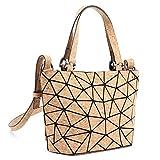 Tikea Kork Damenhandtasche - Fashion Geometrische...