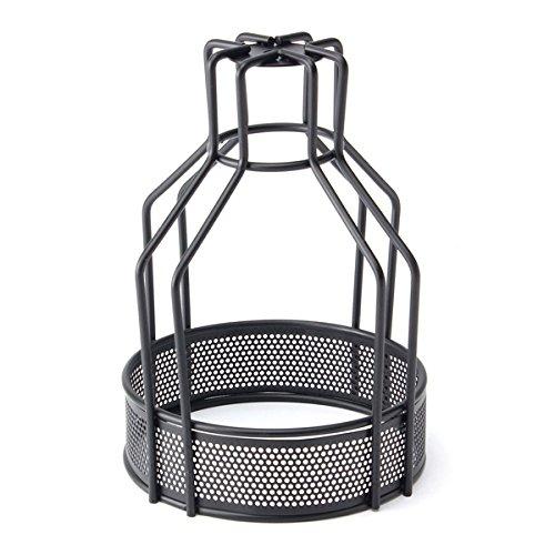 MASUNN Eisen Vintage Deckenleuchte Lampe Glühbirne Netto Bottom Shape Cage Bar Cafe Lampenschirm-#002