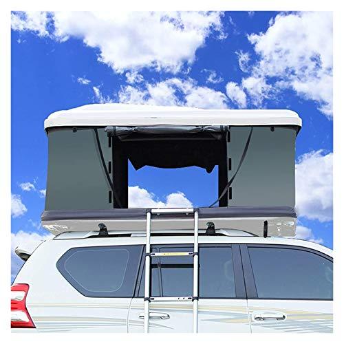 pwmunf Selbstfahrendes Auto-Dachzelt im Freien, SUV-Auto Vollautomatisches Seitentzelt, Hartschale wasserdicht und verschleißfest (Color : White, Size : 190x130x112cm)