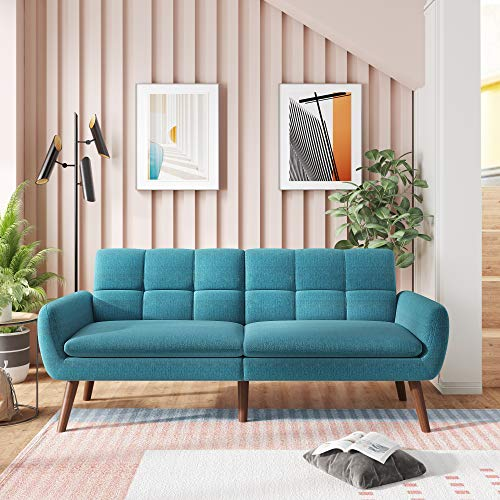 Sofa Bed Sleeper Couches and Sofas - 74'' Couch Recliner Convertible Sofa Modern Adjustable Futon Couches Sofas Bed for Living Room Fold Up and Down Recliner Couch