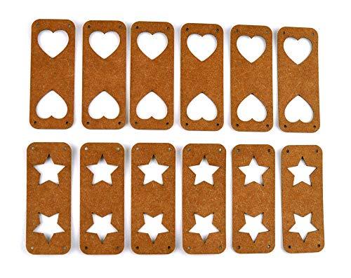 SnapPap Label Doppel Herz oder -Stern
