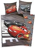 Klaus Herding GmbH Disney Cars 3 Juego de Sábanas Algodón Gris 200x135 cm