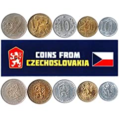 ✅ A LIMITED EDITION - Get a coin bag with 5 rare, collectible coins from the Czechoslovakia. Each pack may have different combinations of coins, from 10 heller - 1 korun. ✅ VALUABLE PIECES OF CZECHOSLOVAKIAN HISTORY - Our coins collection includes re...